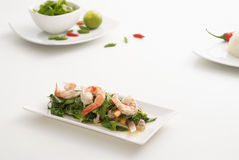 Spicy shrimp salad 1 Royalty Free Stock Photography