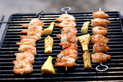 Spicy shrimp skewers Royalty Free Stock Image