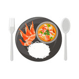 Thai food Spicy Shrimp Soup  Stock Image