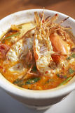 Spicy shrimp soup Stock Photography
