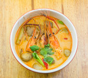 Spicy shrimp soup. Tom Yum kung,spicy shrimp soup Royalty Free Stock Images