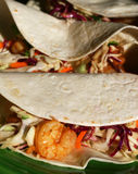 Spicy Shrimp Tacos stock photos