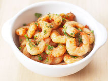 Spicy shrimps Royalty Free Stock Photo