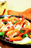 Spicy shrimps Royalty Free Stock Photos