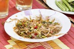 Spicy shrimps alive(Dancing-Shrimp-Salad)Kungten. Spicy Kungten food of thailand shrimps alive (Dancing-Shrimp-Salad Royalty Free Stock Photo