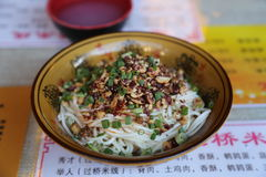 Spicy Sichuan Noodles Royalty Free Stock Images