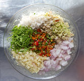 Spicy sliced ingredients. Stock Photography