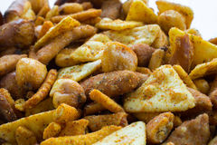 Spicy snack mix stock image