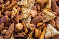 Spicy snack mix stock photos