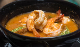 Spicy and Soup Curry with Shrimp Royalty Free Stock Photography