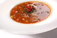 Spicy Soup Mexican style Royalty Free Stock Photo