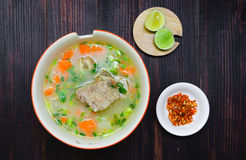 Spicy soup with pork ribs Royalty Free Stock Image