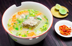 Spicy soup with pork ribs Royalty Free Stock Images