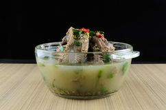 Spicy soup pork ribs Royalty Free Stock Images