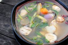 Spicy Soup Thai Style Stock Images