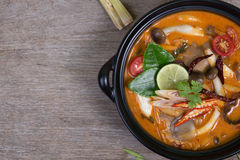 Spicy soup traditional food cuisine Stock Photo