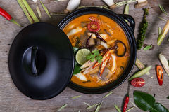 Spicy soup traditional food cuisine in Thailand Royalty Free Stock Photo