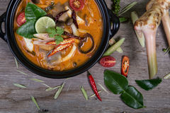 Spicy soup traditional food cuisine Stock Photos