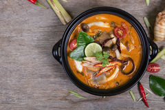 Spicy soup traditional food cuisine in Thailand Stock Images