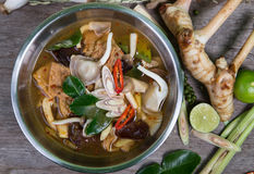 Spicy soup traditional food cuisine in Thailand Royalty Free Stock Photos
