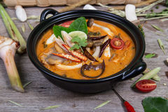 Spicy soup traditional food cuisine Stock Images