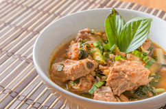 Spicy and Sour pork spare rib soup in thai style Royalty Free Stock Photos