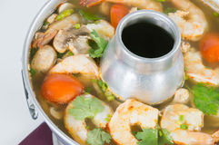 Spicy and sour Shrimp Tom yum Royalty Free Stock Photos