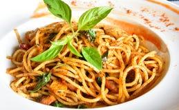 Spicy Spaghetti Stock Photo