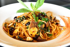 Spicy Spaghetti Royalty Free Stock Images
