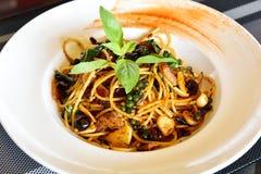 Spicy Spaghetti Stock Photography