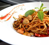 Spicy Spaghetti Stock Photos