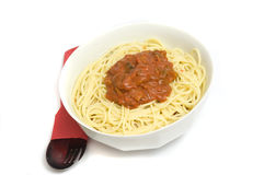 Spicy spaghetti recipe Royalty Free Stock Photography