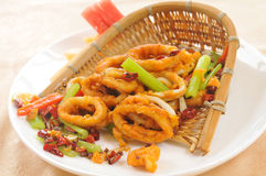Spicy squid ring Royalty Free Stock Photography