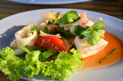 spicy squid salad Royalty Free Stock Images