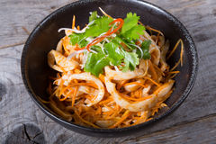 Spicy squid salad. Served in a bowl Stock Photography