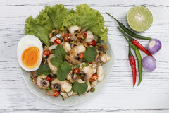 Spicy squid salad Royalty Free Stock Photography
