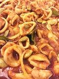 Spicy Squid Sambal Stock Photo