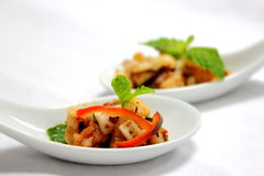 Spicy Squid and Shrimps stock images