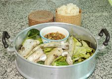 Spicy steamed fish Royalty Free Stock Images