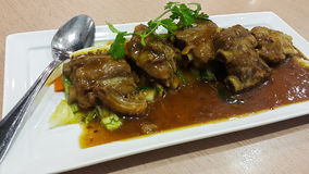 Spicy steamed pork Stock Photos