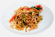 Spicy stir fried Chicken Stock Photography