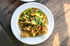 Spicy Stir Fried Fish Stock Photos