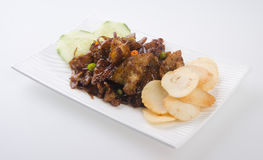 Spicy stir fried pork asian food Stock Image