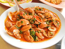 Spicy Stir Fried sea food.  Royalty Free Stock Photo