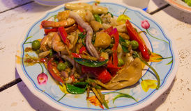 Spicy Stir Fried Sea Food. Stock Images
