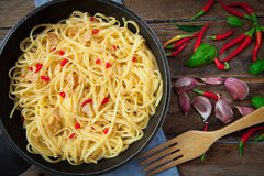 Spicy stir fry noodles Royalty Free Stock Photography