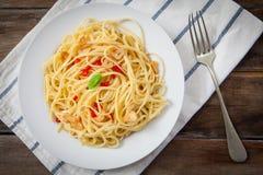 Spicy stir fry noodles Stock Photos