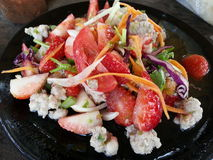 Spicy Strawberry Salad - Thai Food Stock Images