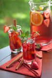 Spicy Strawberry Sangria Stock Image