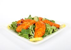 A spicy summer starter, lemon chicken salad Royalty Free Stock Photo